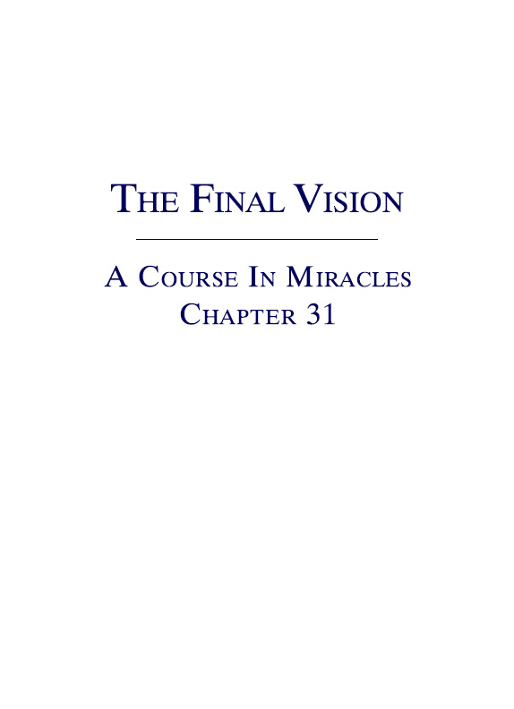 A Course In Miracles Booklets